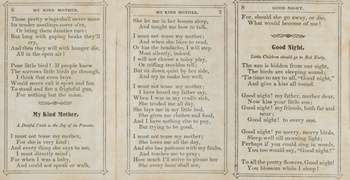 A Poem for Mother's Day | The Chapbook Digitization Project