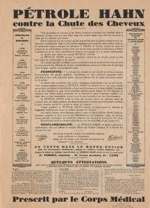 "French advertisement on the verso of a cartoon entitled ""Couche-Huit-Heures""."