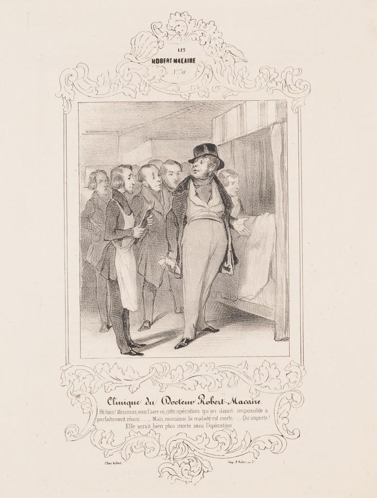 """""""Clinique du Docteur Robert-Macaire"""" by Honoré Daumier."""