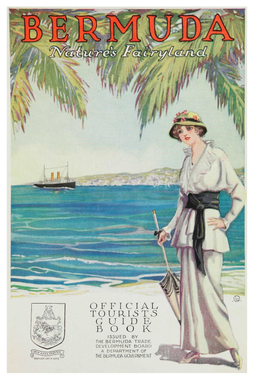 Full colour illustration on page 5 of 'Bermuda, nature's fairy land : official tourists guide book, 1915-16.'