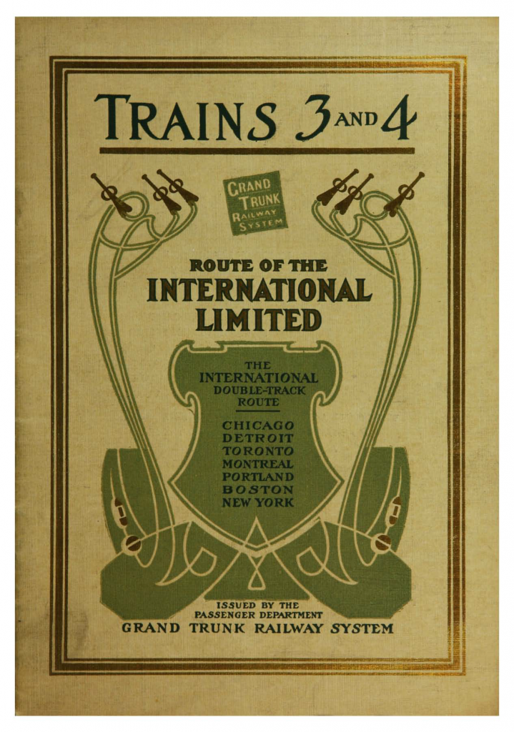 Trains 3 and 4 : flight of the International Limited, the railway Greyhound of Canada—front cover