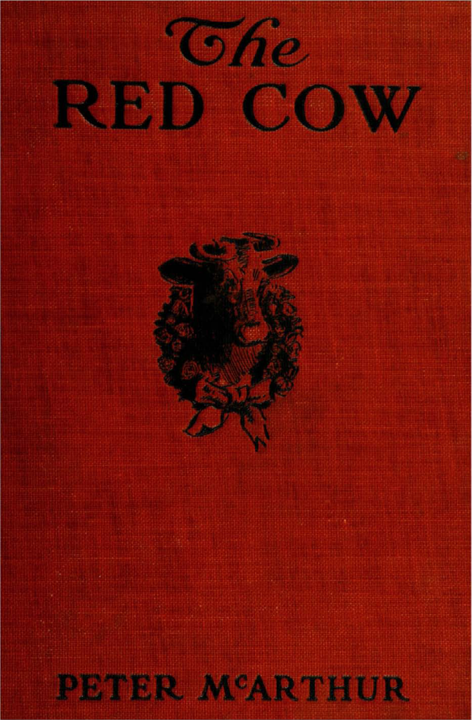 "Front cover of ""The red cow and her friends"""