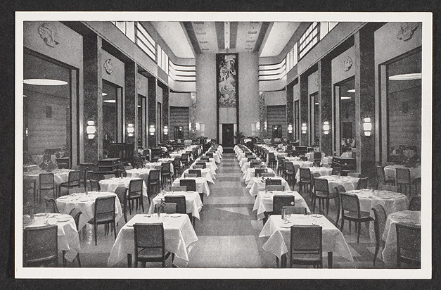 A postcard with a photograph of the Eatons' Restaurant on the 9th floor, ca.1931.