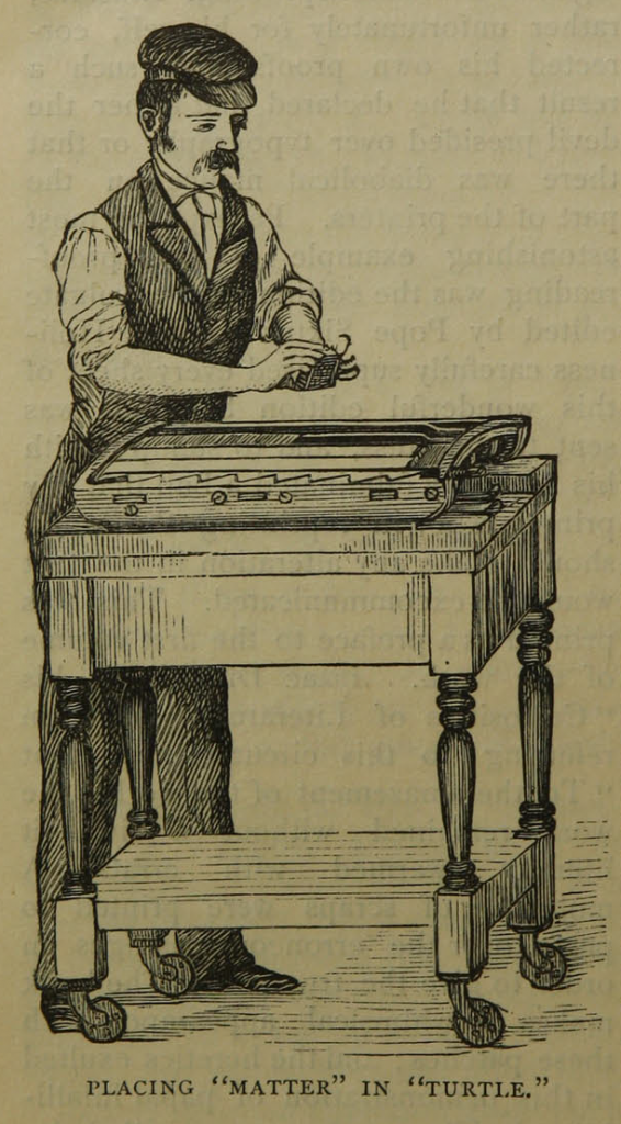 "Illustration on page 10 of ""The daily newspaper : the history of its production and distribution."""