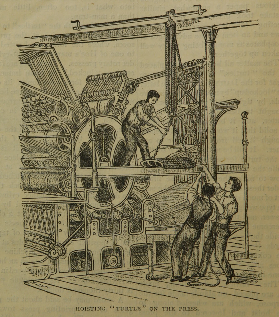 "Illustration on page 12 of ""The daily newspaper : the history of its production and distribution."""