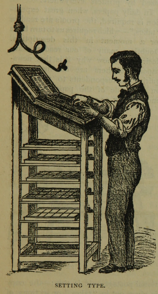 "Illustration on page 7 of ""The daily newspaper : the history of its production and distribution."""