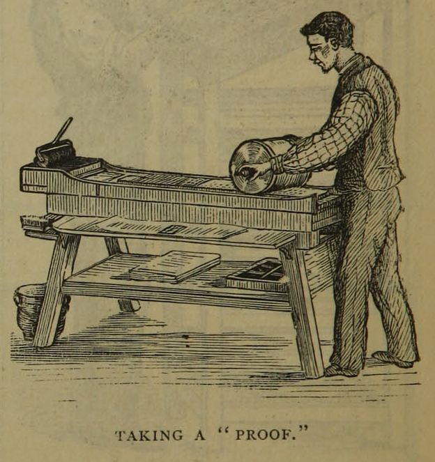 "Illustration on page 8 of ""The daily newspaper : the history of its production and distribution."""