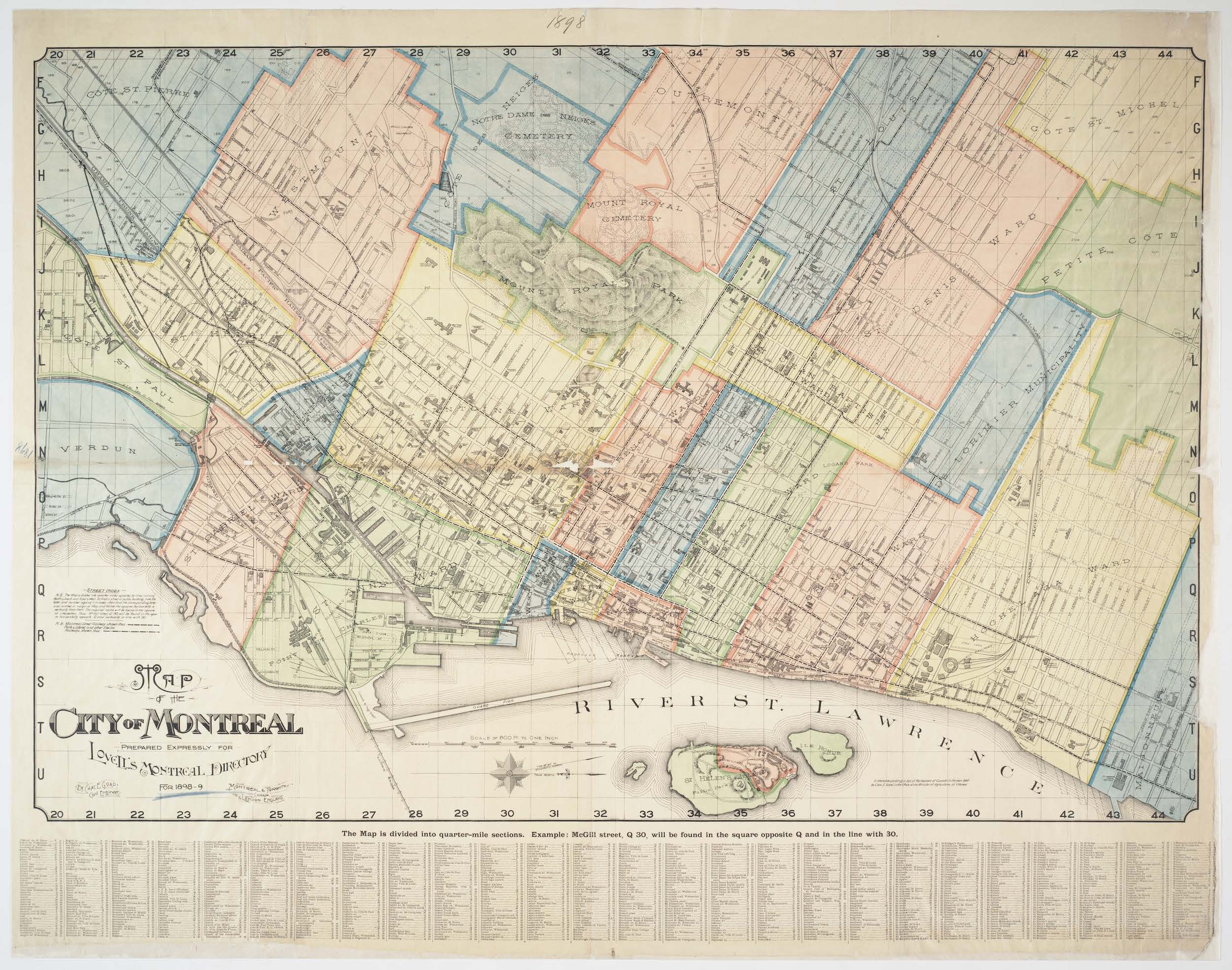Map of the city of Montreal : prepared expressly for Lovell's Montreal Directory for 1898 by Charles E Goad.