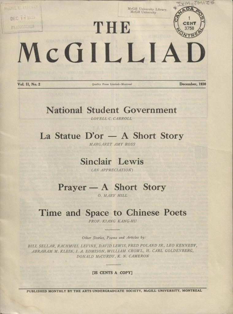 The McGilliad. Vol. 2 no. 2