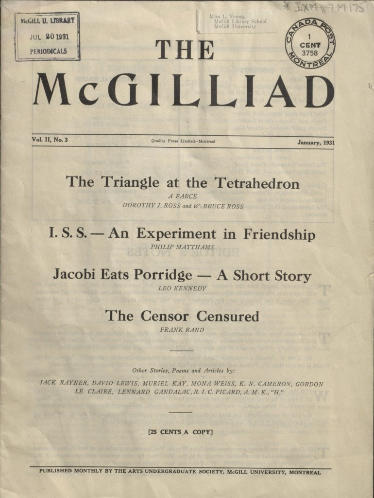 The McGilliad. Vol. 2 no. 3