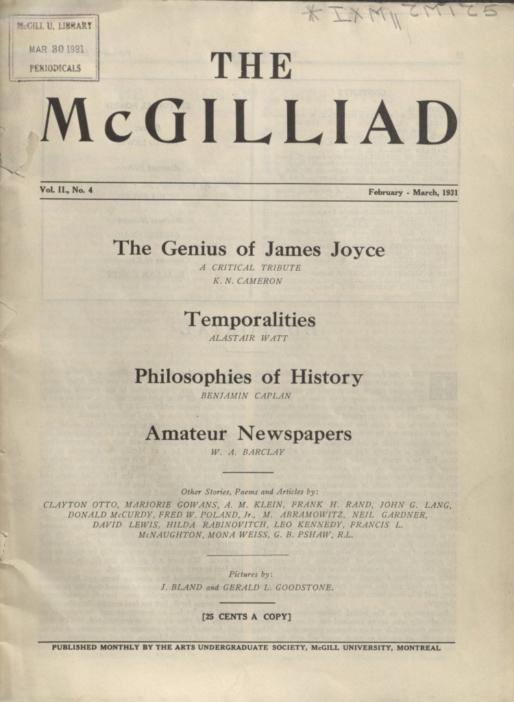 The McGilliad. Vol. 2 no. 4
