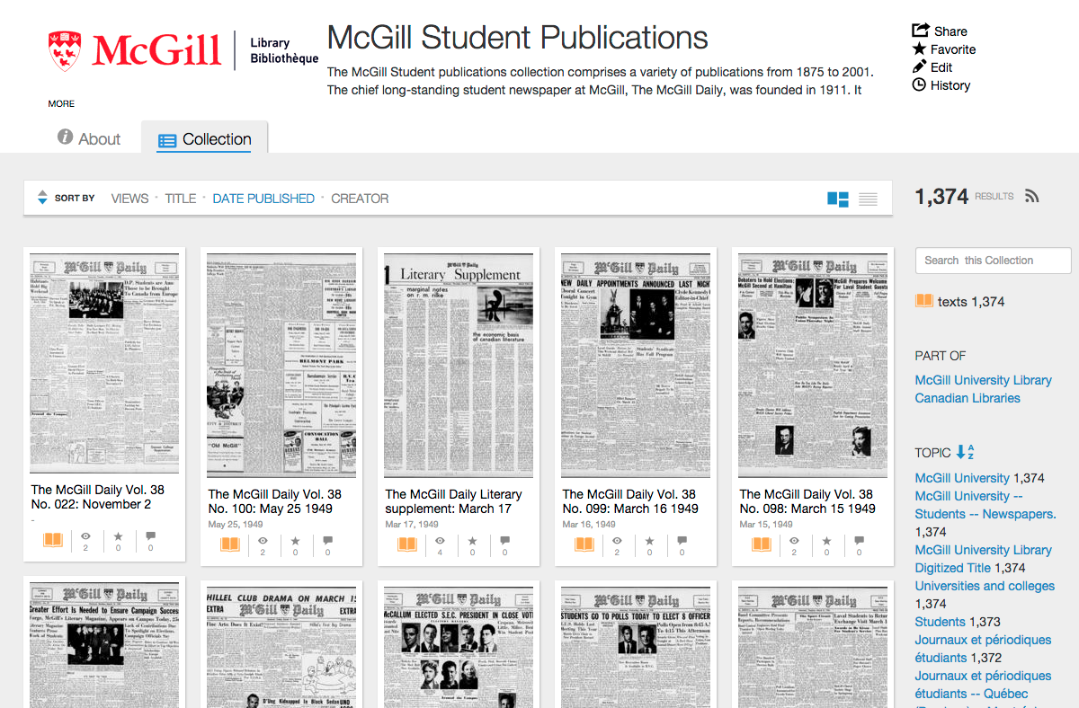 McGill Student Publications collection