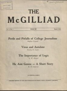 The McGilliad: Vol. 1, no. 1