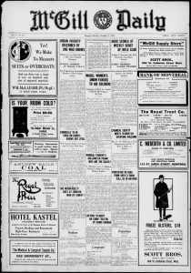 Image result for The McGill newspapers