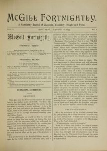 McGill Fortnightly Vol. 02 No. 01: October 12, 1893