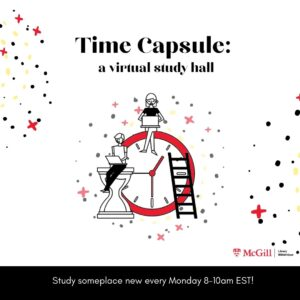 time capsule study hall every monday 8-10am EST