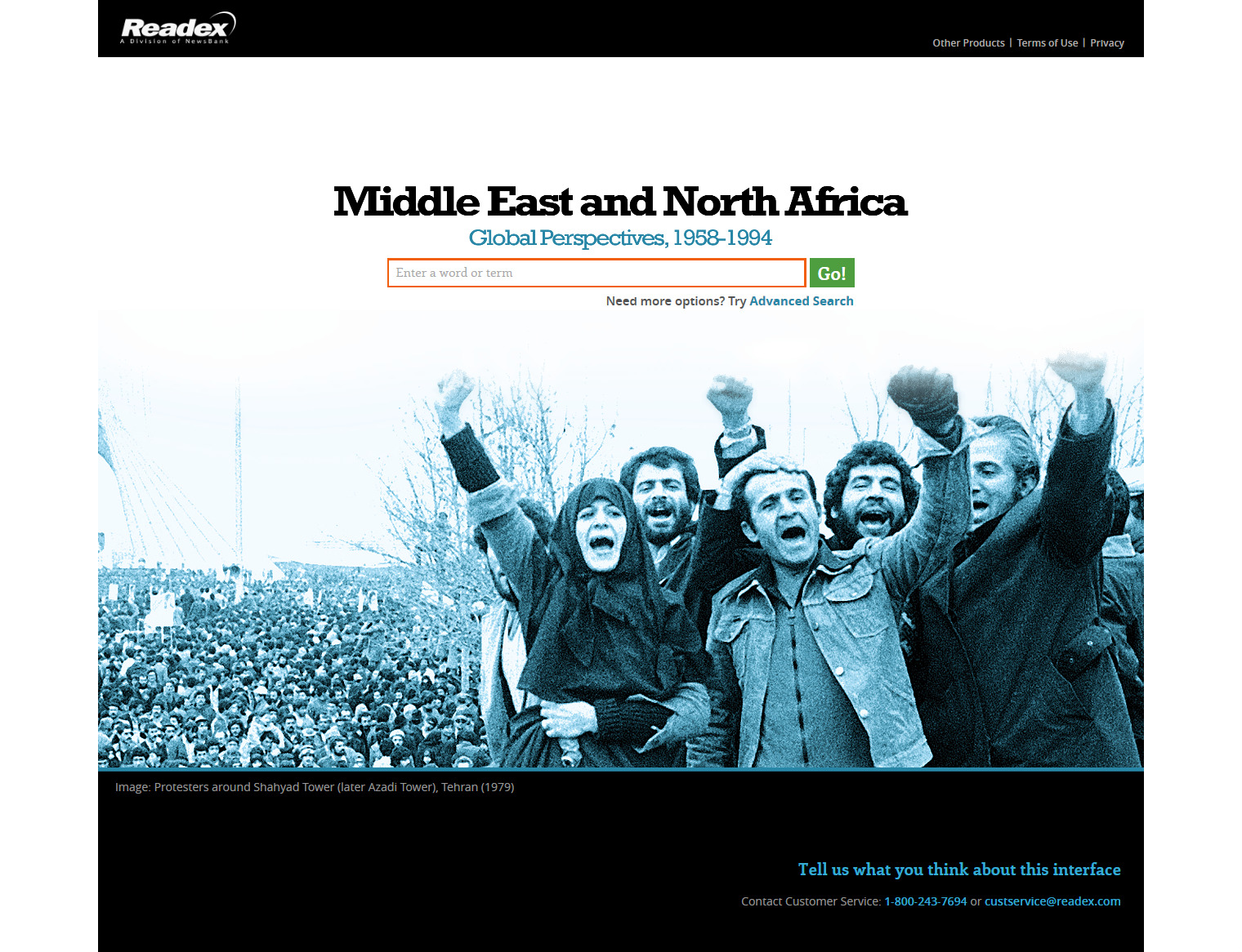 Search Middle East and North Africa- Global Perspectives, 1958-1994 Readex