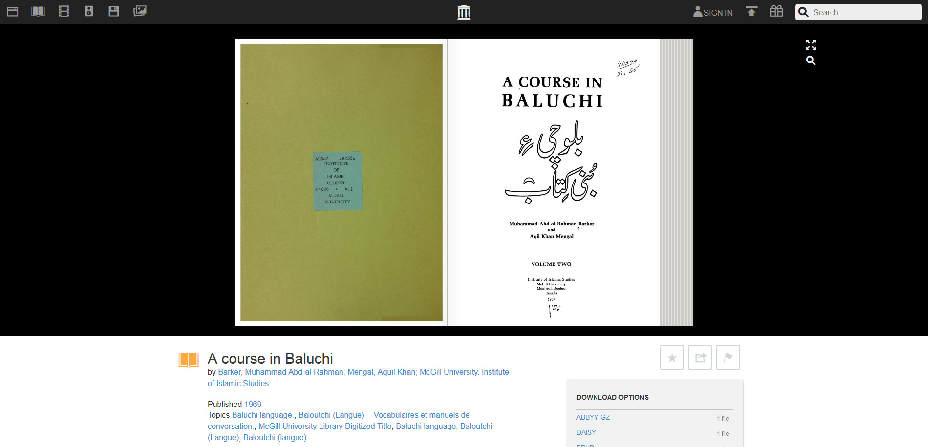 A course in Baluchi - Barker, Muhammad Abd-al-Rahman - Free Download & Streaming - Internet Archive