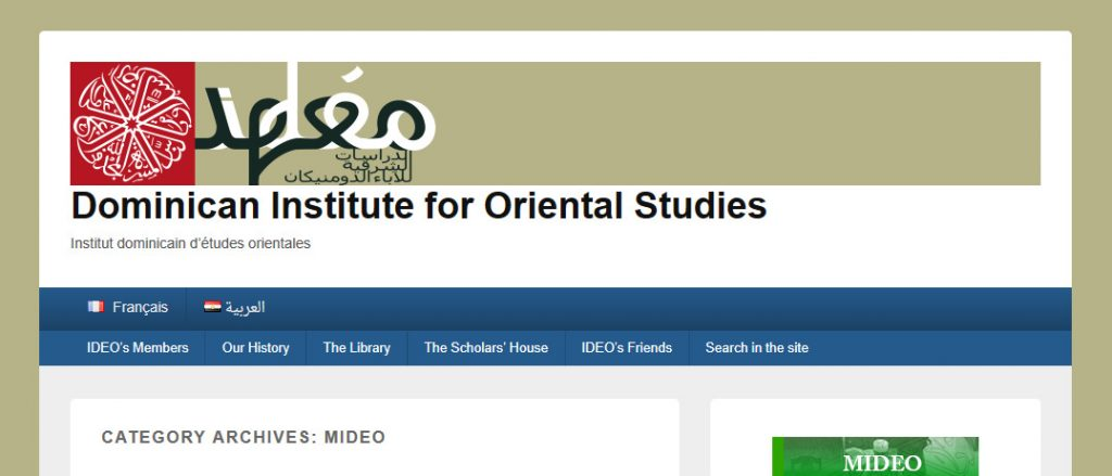 MIDEO – Dominican Institute for Oriental Studies