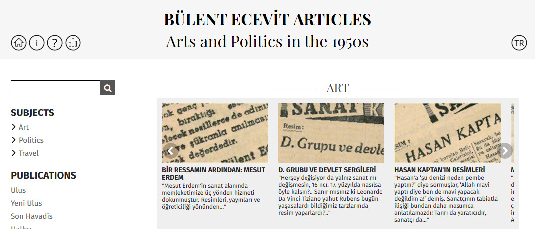 bulent-ecevit-articles-arts-and-politics-in-the-1950s
