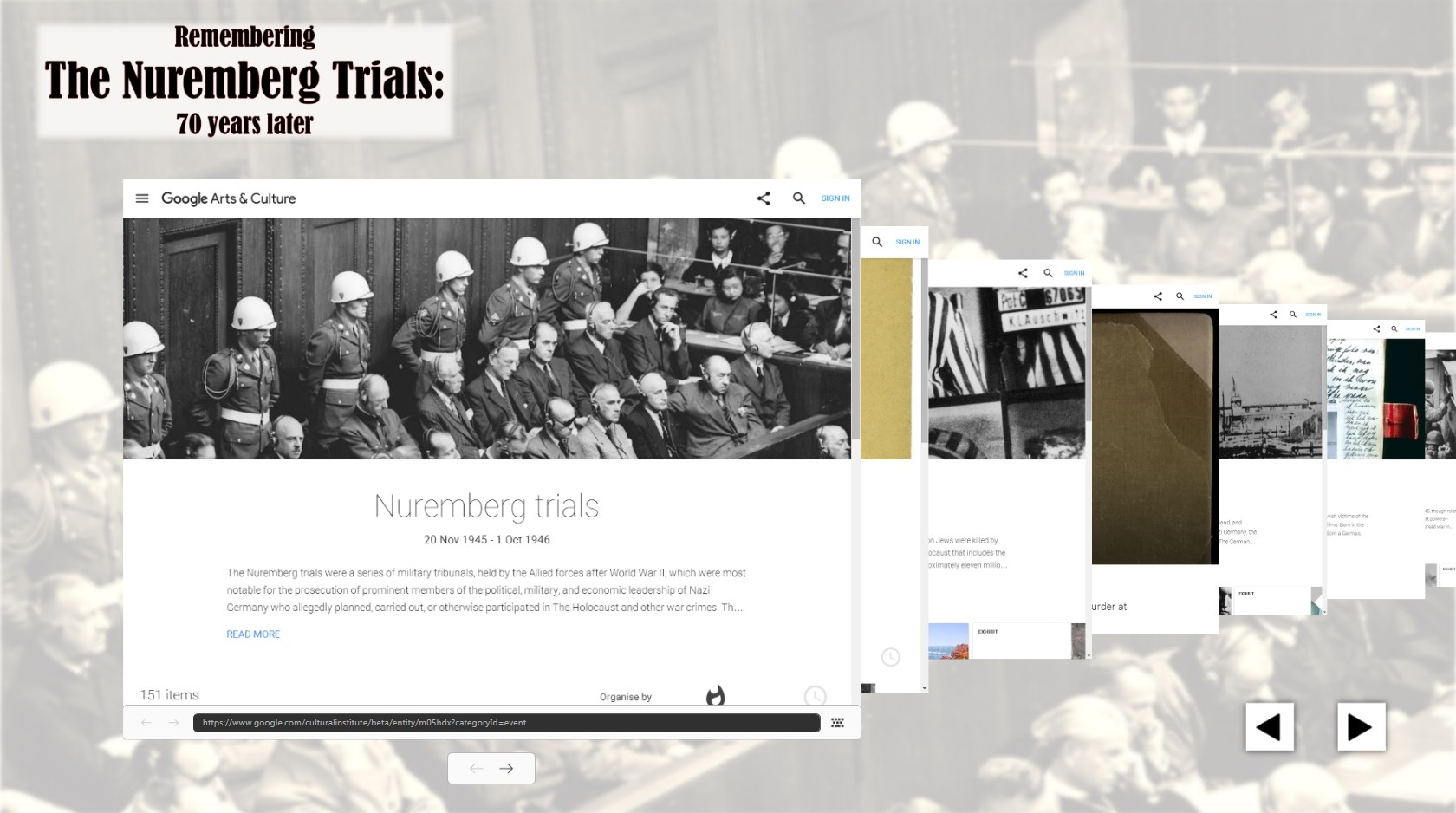 nuremberg trials thesis 1 international military tribunal (nuremberg) judgment of 1 october 1946 page numbers in braces refer to imt, judgment of 1 october 1946, in the trial of.