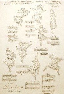 Le sacre sketches by Valentine Gross-Hugo (1913)
