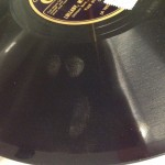 Long-term effects of fingerprints on a shellac 78 RPM recording
