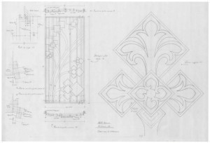 Christ Church Cathedral, Victoria, BC : Drawing of design on the case