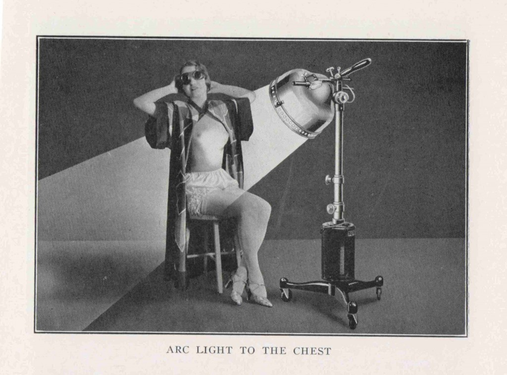 John Harvey Kellogg. Light therapeutics: a practical manual of phototherapy for the student and the practitioner. 2nd ed. Battle Creek, Mich. : Modern Medicine Pub. Co., 1927.