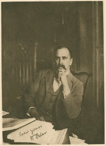 Osler at His Desk in Baltimore. From the William Osler Photo Collection.