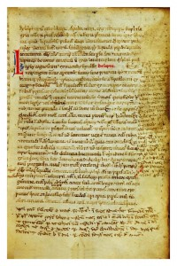 Chapter on leprosy, De Lepra from BO 7627. A popular topic, one early reader has added a lot of notes in the margin.