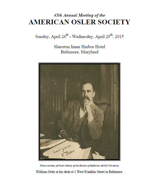 American Osler Society Meeting