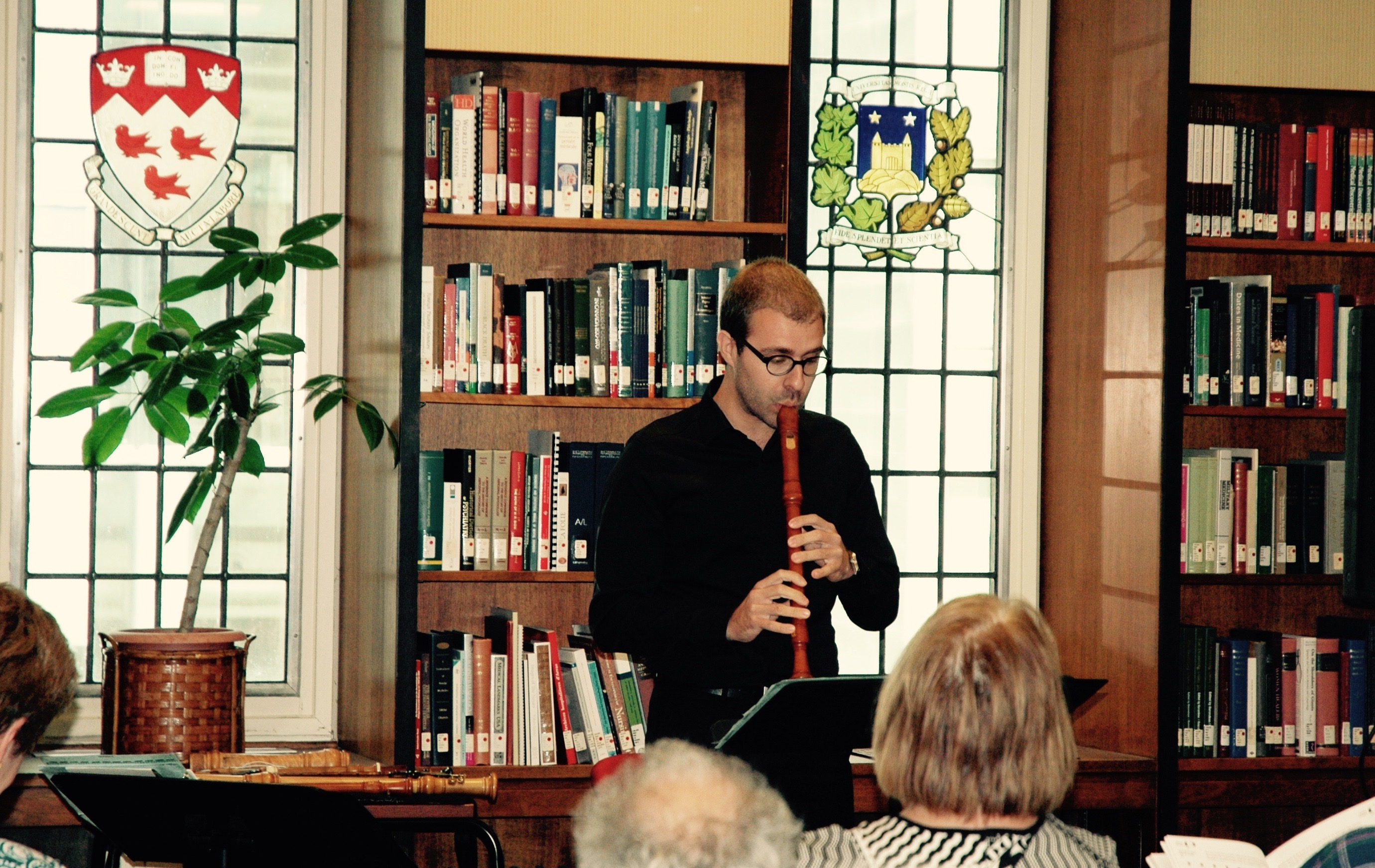 Vincent Lauzer performs at the Osler Library, part of Montreal Baroque Festival 2016.