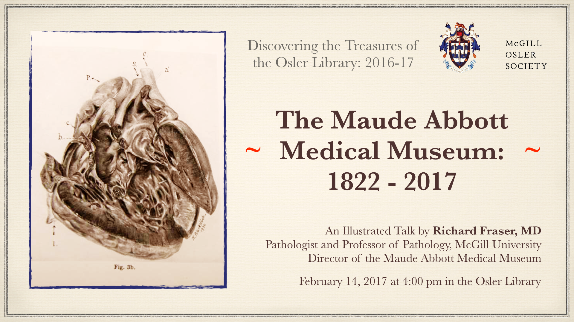 Illustrated Talk The Maude Abbott Medical Museum 1822 2017