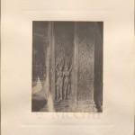 """(6)""""Carved Pillars, and Sculptures of the Bountiful Lady, in Nakhon Wat"""", John Thomson, 1866"""