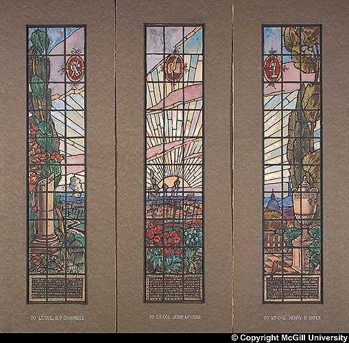 Nobbs and Hyde design: Memorial Windows for Medical Building (1919).