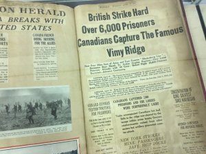 Headline History of the Great War scrapbook