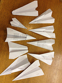 Paper planes that crossed the distance line