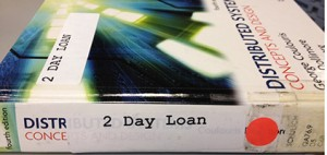 Reserve book on 2 day Reserve loan