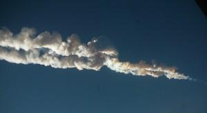 Chelyabinsk meteor trace