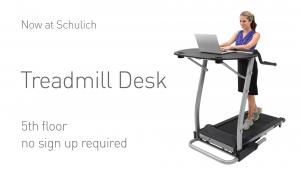 Schulich treadmill desk